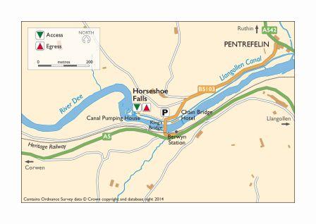 Map Horseshoe Falls